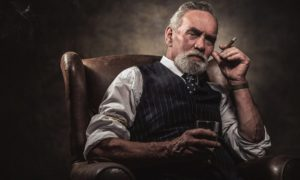 Old Man With Whiskey